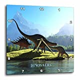 Cheap 3dRose dpp_62326_2 When Dinosaurs Roamed The Earth Wall Clock, 13 by 13-Inch