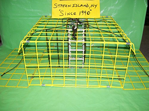E-Z Catch Stow-A-Way Limited Edition Yellow Crab Trap with Bait Holder