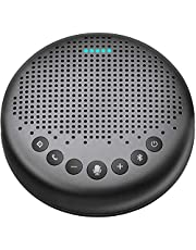 Bluetooth Speakerphone – Luna New AI Noise Redaction Algorithm Featured, Daisy Chain, USB Conference Speaker Phone w/Dongle for Home Office, 360° Voice Pickup for up to 8 People
