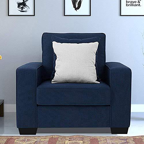Furny Apollo Fabric 1 Seater Sofa  Blue