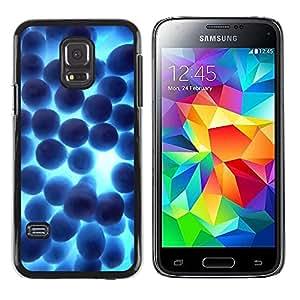 Be Good Phone Accessory // Dura Cáscara cubierta Protectora Caso Carcasa Funda de Protección para Samsung Galaxy S5 Mini, SM-G800, NOT S5 REGULAR! // Random Blue Shine