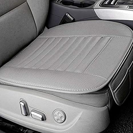 Yukiko Bamboo Charcoal Car Seat Cover Four Seasons Breathable Backless Seat Cushion