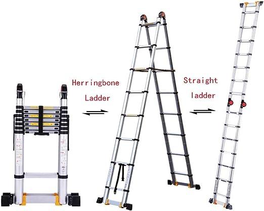 Escaleras telescópicas ZX, Escalera de Extensión 3 En 1 Escalera Recta, Escalera En Forma A, Escalera Multifunción, Escalera Espiga (Size : 4m+4m=Straight Ladder 8m): Amazon.es: Hogar