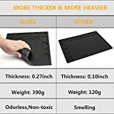 Showpin Work Mat Silicone Heat Resistant Mat 550F for BGA Soldering Rework Station,Hot Air Soldering Iron,Welding Heat Gun,Non-skid Insulation Anti-static Desk,Electronics Repair with Scale Ruler