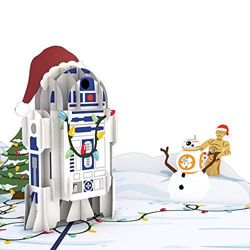 Star Wars Festive R2-D2 Pop Up Card, 3D Card, Holiday Card, Greeting Card