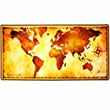Large Mouse Pad IAUGO Extended Gaming Mouse Mat XXXL,Stitched Edges,Wide & Long Mousepad 3ft X 1.3ft [0.12inch-Thick](old map)