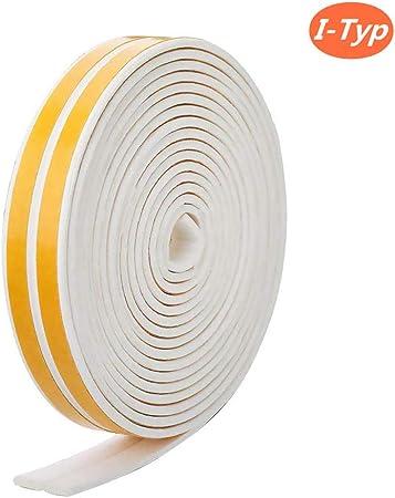Joint caoutchouc isolation autocollant Fenetre Porte 10M Forme Profile E Blanc