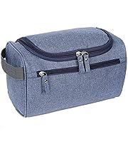 EGOGO Beauty Case da Viaggio Borsa da Toilette Cosmetico Bag, Borsetta da Bagno Organizer per Uomini Donne E528-3 (Grigio)