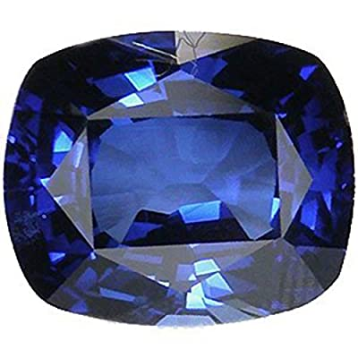 Blue Synthetic Sapphire Cushion Facet 10mm X 8mm from uGems