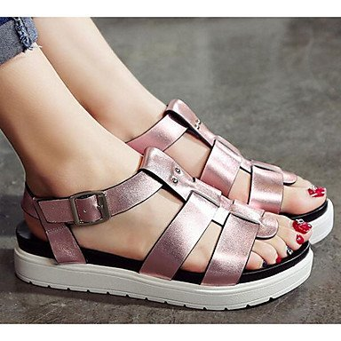 Nappa Cowhide Purple Casual CN40 US8 UK6 Silver Spring Leather Women's 5 Sandals EU39 Comfort 5 Flat tESw4