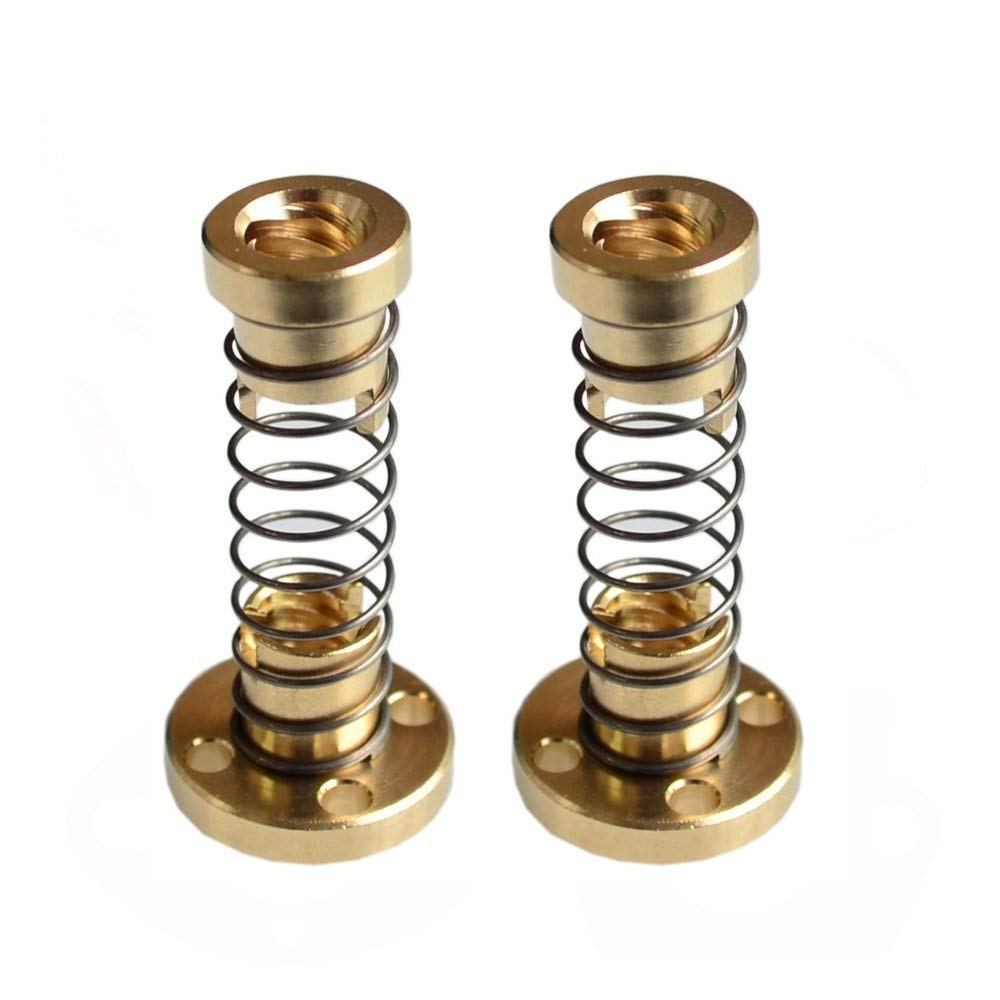 8mm Lead Screw T8 2mm Pitch Anti-backlash Brass Nut Shaft Coupling 3D Printer