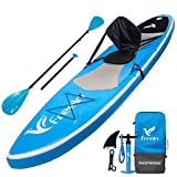 Freein All Around Inflatable Stand Up Paddle Board W/Kayak Conversion Kit -10' 6' Long, 31' Wide - Includes Kayak Seat, Single/Dual Blade Paddle, Hand Pump, Travel Backpack, Ankle Leash