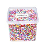 2-4mm(0.08-0.15 Inch)Mini Styrofoam Foam Balls Decorative Slime Ball DIY Wedding Party School Home Decoration 15000 Pcs (Mixed color 3)