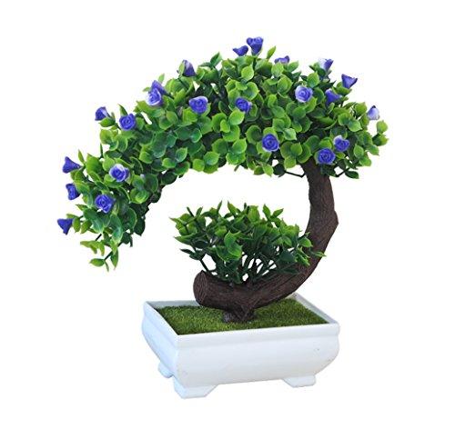 GreensCharm Artificial Bonsai Tree - 8 Inch (Purple)