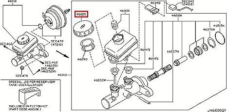 Amazon infiniti genuine brake master cylinder oil reservoir infiniti genuine brake master cylinder oil reservoir tank cap assy 46020 al600 qx70fx cheapraybanclubmaster Choice Image