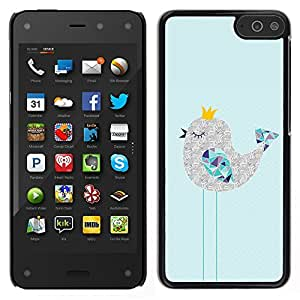 For Amazon Fire Phone , S-type® Cute Sleepy Drawing Art Polygon - Arte & diseño plástico duro Fundas Cover Cubre Hard Case Cover