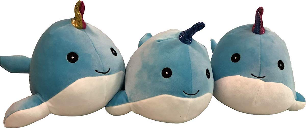 Horn Color May Vary Squishmallow Kellytoy 11.5 Inch Narwhal Super Soft Plush Toy Pillow Pet