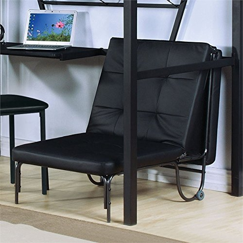 BOWERY HILL Futon Chair in Silver and Black by BOWERY HILL
