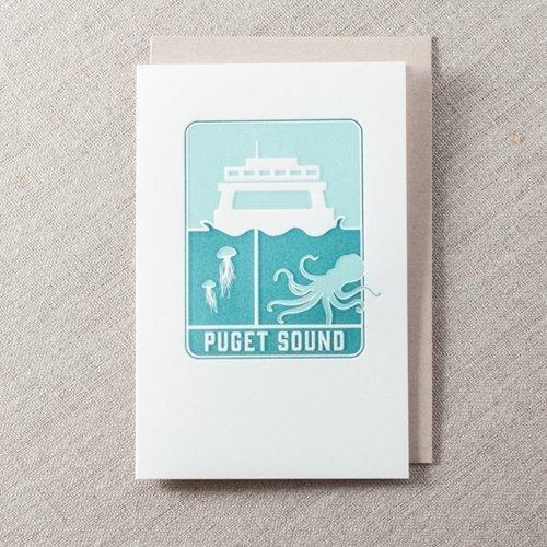 puget sound greeting card seattle letterpress greeting card - Letterpress Greeting Cards
