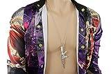 TFJ Men Fashion Necklace Silver Metal Chains Big Army Soldier Weapon M16 Pendant Gun Hip Hop Jewelry