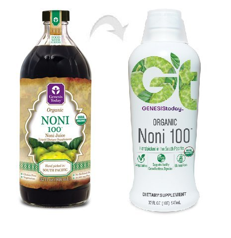 Genesis Today Kosher Organic Noni 100 Juice 32 oz