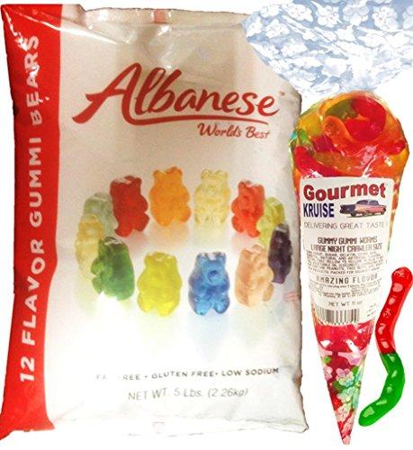 Gummi Gummy Bears Albanese 12 Flavors-Bulk Candy 5lb