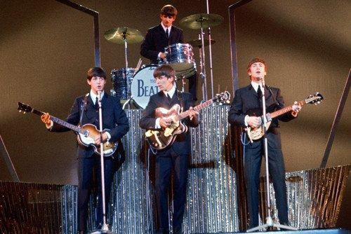 The Beatles 24x36 Poster John Lennon Paul McCartney Ringo Starr George Harrison color in concert (Beatles Poster Card)