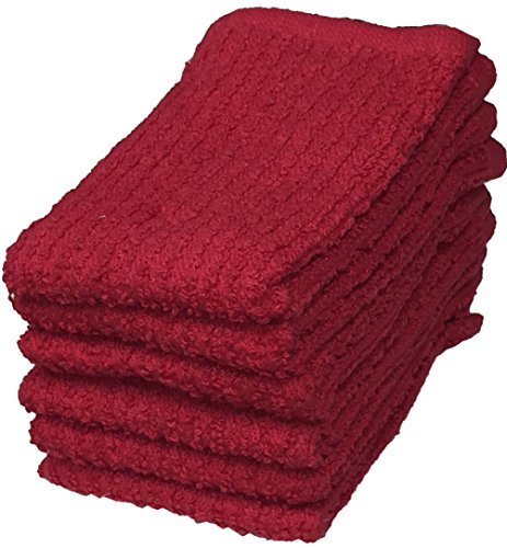 Pack Of 6, Super Soft Ribbed Bar Mop Dish Cloth Size : 12
