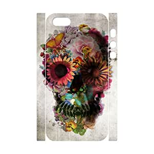 D-PAFD Cell phone Protection Cover 3D Case Sugar Skull For Iphone 5,5S