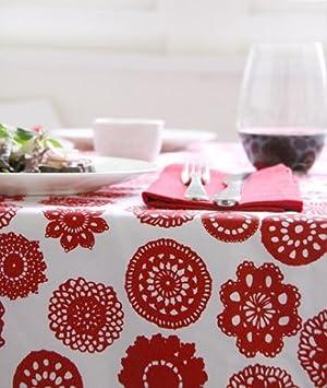 Dandi 10 Seater Tablecloth Snow White Eucalyptus
