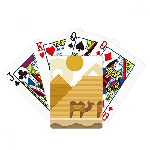 Egypt Yellow Green Sphinx Pyramids Camel Poker Playing Cards Tabletop Game Gift (Card Sphinx)