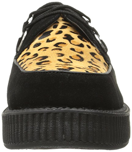 Round T u Sole Creeper black k Adulte Low Mixte Baskets Noir Mode Leopard cqA1qg