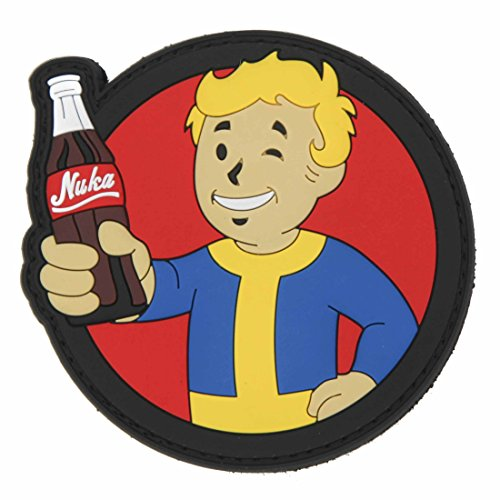FALLOUT Vault Boy Pip Boy Nuka Cola PVC Rubber Morale Patch by NEO Tactical Gear Morale Patch - Hook -