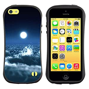 Suave TPU GEL Carcasa Funda Silicona Blando Estuche Caso de protección (para) Apple Iphone 5C / CECELL Phone case / / Bright Moon Clouds Blue Sky Heaven Art Space /