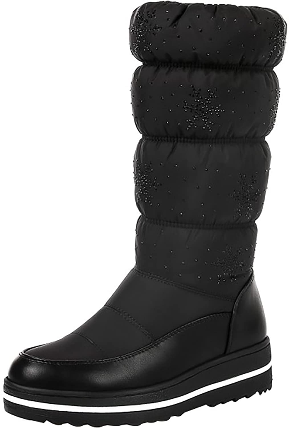 Womens Abaat8 Round-Toe CM Pull-On Boots Shoes
