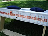 Cornhole Bag Toss Game Magnetic Scoreboard Orange on White