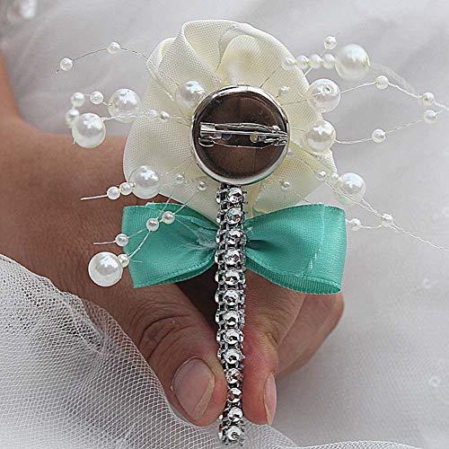 856store Novelty Fashion Faux Pearl Flower Rhinestone Brooch Pin Breastpin Women Jewelry - 03 by 856store (Image #2)
