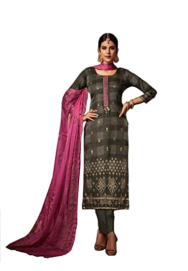 485dbc7523 UFW Pakistani Suits for Women,Pure Jam Silk Foil Print With Neck  Embroiderywork Top,