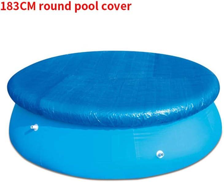 LMTXXS - Funda para piscina, cubierta de drenaje para detener las hojas, fácil de instalar antipolvo y resistente a la lluvia, resistente a la lluvia, Diámetro: 183 cm.