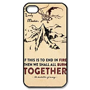Iphone 4,4S 2D Custom Hard Back Durable Phone Case with The Hobbit Image