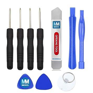 MMOBIEL Kit 10 en 1 de Herramientas para reparación inclyendo Destornilladores, Herramientas pry. para teléfonos Inteligentes, etc Incl Copa de ...