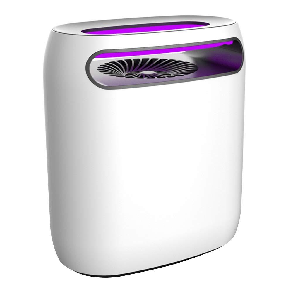 WUZMING 蚊ランプ電撃殺虫灯タイミングインテリジェントライトコントロールLED光源吸入した屋内ミュート ABS樹脂 (Color : White, Size : 22.2x13x25.2cm) B07SKP8X1T White 22.2x13x25.2cm