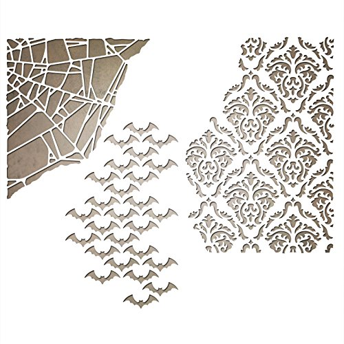 Sizzix 661588 Thinlits Die Set, Mixed Media Halloween by Tim Holtz (3/Pack)]()