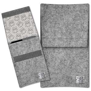 SIMON PIKE Cáscara Funda de móvil Sidney 11 gris Allview X2 Twin Fieltro de lana