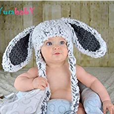 ce682564e62 Easter Clothes Gray Bunny Hat Kids Easter Outfit Baby Bunny Ears Beanie.   24.95. Cabbage Patch ...