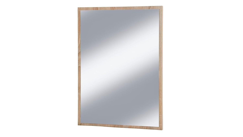 VCM Spiegel Badspiegel Wandspiegel Rahmenspiegel Carlos in Eiche-S/ägerau 60 x 45 cm
