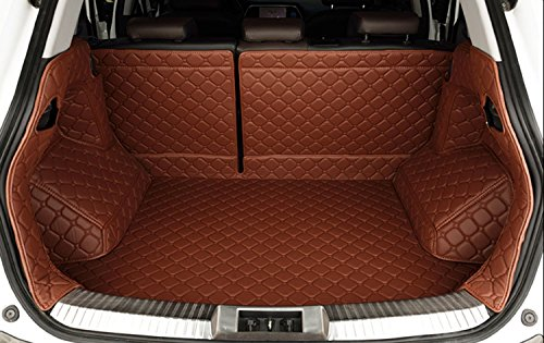 Auto Mall Waterproof Custom Fit Full Covered Trunk Mats Cargo Liners Leather Boots Liner Pet