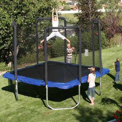 13' Square Trampoline with Safety Enclosure by Skywalker Trampolines