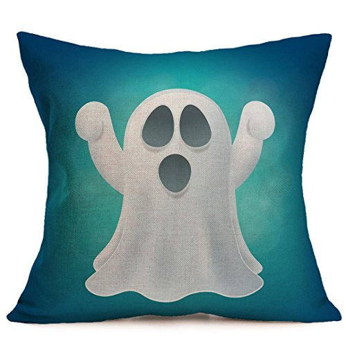 Pillow Case Covers Decorative,Lavany Happy Halloween Pillow Cases Cushion Linen Cover Home Sofa Decor Square