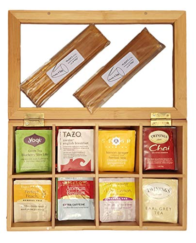 (Plenty 4 You Tea Chest Gift Set 80 Tea Bags 20 Honey Sticks)